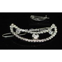 Moon Design Rhinestone Hairclip Girl Crystal Headwear
