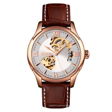 New Skmei 9223 high quality luxury automatic men leather mechanical watches