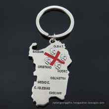 Italy Tourist Metal Gifts Map Shape Key Holder (F1150)