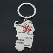 Itália turista metal presentes mapa forma titular da chave (f1150)