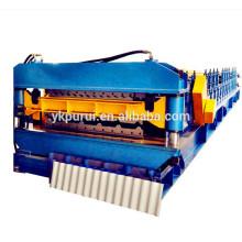 Mejor vendido rodillo de doble capa de color que forma la máquina