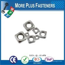 Made in Taiwan M4-0.7 Class 4.6 Zinc Finish Steel Regular Square Nut DIN 557 DIN 562