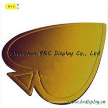 Red Queen Form mit Gold 6mm Dicke Kuchentrommeln mit SGS (B & C-K037)