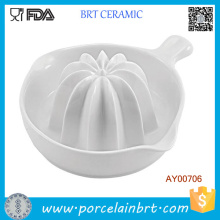 High White Small Ceramic Lemon Extractor