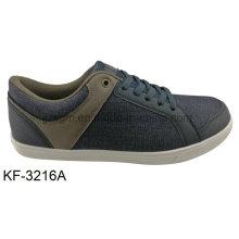 Beiläufige Art- und Weisefreizeit-Spitze-auf Segeltuch-Schuhe der Männer