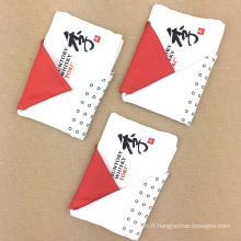 Les plis laminés à la main d'impression de pli faits sur commande de main encadrent des carrés de poche des hommes
