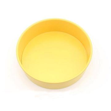 10-дюймовая круглая форма для выпечки со съемным дном - желтая