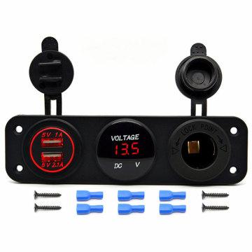 Car Accessories USB Panel & USB Car Socket Charger, Car Charger and Car Cigarette Lighter Socket for Mobile Phone Car Boat Marine