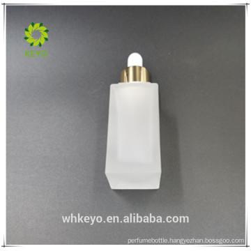 empty square frosted dropper bottle glass cosmetics jar bottle