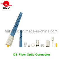 D4 Singlemode Multimode Fiber Optic Connector