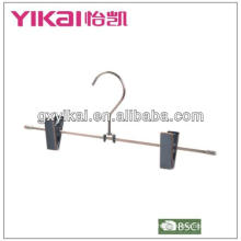 2013 best selling metal pants skirt hangers with clips and antique brass finished