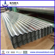 Material de construcción 22 galvanizado chapas de acero galvanizado de acero corrugado hecho en bien establecida y fiable fabricante