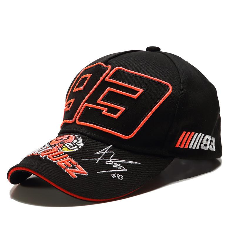 Embroidered hat racing hat baseball cap cap cap