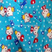 100% coton 2016 nouveau design tissu de flanelle pour bébé 150gsm pour literie pour bébé Ensemble de flanelle