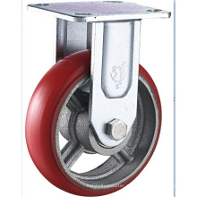6 pedaços PU Heavy Duty Cast Iron Core PU Caster