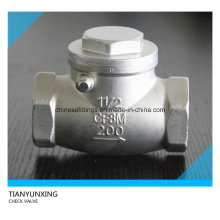 Резьбовой обратный клапан с резьбой NPT Wog200 Ss316