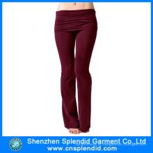 Custom Made atacado 100% algodão yoga calças leggings