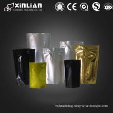 Factory price aluminium foil plastic bags/coloured metallic pouches
