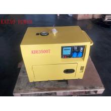 Generador diesel silencioso simple de la fase 50Hz / 3kw de la CA con el tablero digital del panel para el hogar y el uso de la tienda