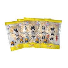 bolso de empaquetado plástico personalizado de los snacks de la comida para el calamar seco