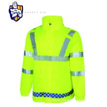 High Visibility Safety Orange Jackets Mens Winter Coats Reflective Rain Jacket Wholesale orange hi viz fleece jacket