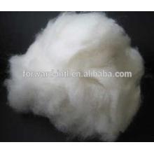 Fibra de cachemira peinada de cabra de color blanco natural