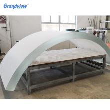 Large curved plexiglass super thick acrylic sheet for aquarium