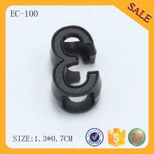 EC100 Accesorios para la ropa tapón metálico de la cuerda del tirón para el bolso del paquete