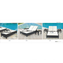 Playa Sun Lounge Muebles al aire libre PE Rattan Wicker Furniture