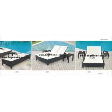 Beach Sun Lounge Meubles d'extérieur Meubles en osier en rotin PE