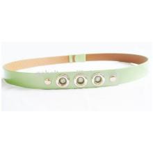 Femme vêtement décoratif Shinny fashion PU ceinture avec boucle en pierre