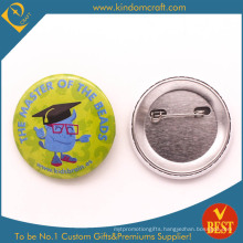 Kids Brain Tin Button Badge in Cute Style as Gift