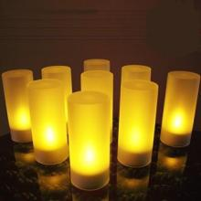 Rechargeable votive LED tealight candle set