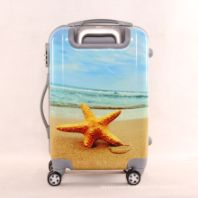 The New Fashion Starfish Pattern Travel Luggage Box Chassis Men and Women Pull Box Mute Universal Wheel 20 Inches