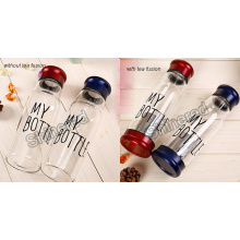 High Borosilicate Glass portable Glass Tea Bottle