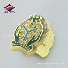 Gold Nigeria logo bancaire épingle à épaule à tête plate