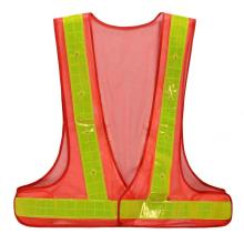 Hot selling V style Polyester mesh safety vests