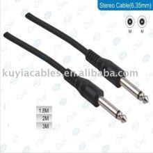 6.35mm bis 6.35mm Kabel männlich zu männlich