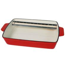 Recipiente rectangular de esmalte de hierro fundido