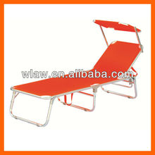 Outdoor Foldable leisure bed with sunshade