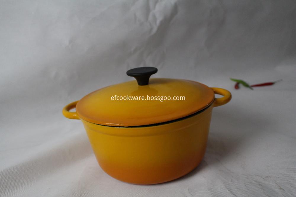 Yellow Enamel Casseroles