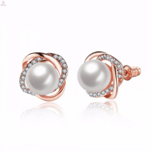 Wholesale beautiful cultured freshwater vietnam pearl stud earrings jewellery