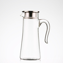 Glass Water Carafe Pitcher Iced Beverage Cold Water Jug