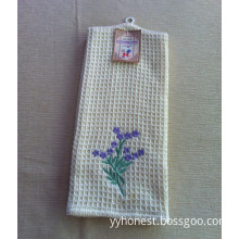 Home Textile Microfiber 100% Cotton Tea Towels with Embroidery