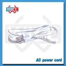 UL CUL NEMA5-15P white us power cord with IEC C13