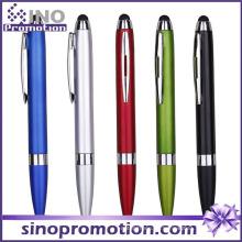 Multi-Color erhältlich Metall Glanz Clip Kugelschreiber mit Gummi-Spitze
