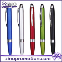 Multi-Color Available Metal Luster Clip Ballpoint Pen with Rubber Tip