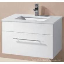 Сантехника глянцевый МДФ стена Повиснула шкаф ванной комнаты с тазик искусства (UV8023-600-1)