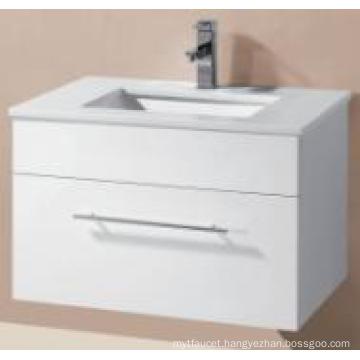 Sanitary Ware Glossy MDF Wall Hung Bathroom Cabinet with Art Basin (UV8023-600-1)
