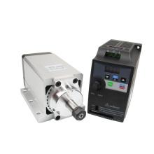110V /220V Air Cooled Spindle Motor 700W Er11 0.7kw Air Cooling DC Brushless Motor Driver with Inverter /Driver Power Supply